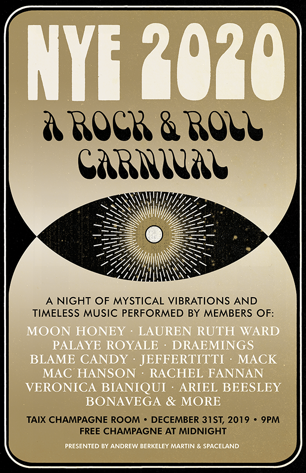 A Rock & Roll Carnival - NYE 2020 at the Taix Champagne Room