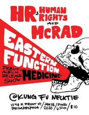 Eastern Function Album Release w/HR + Human Right / McRad