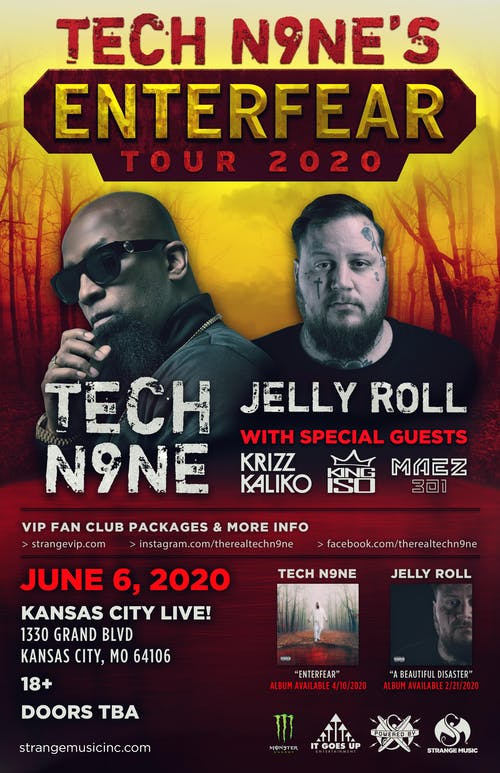 Tech N9ne - Enterfear Tour 2021