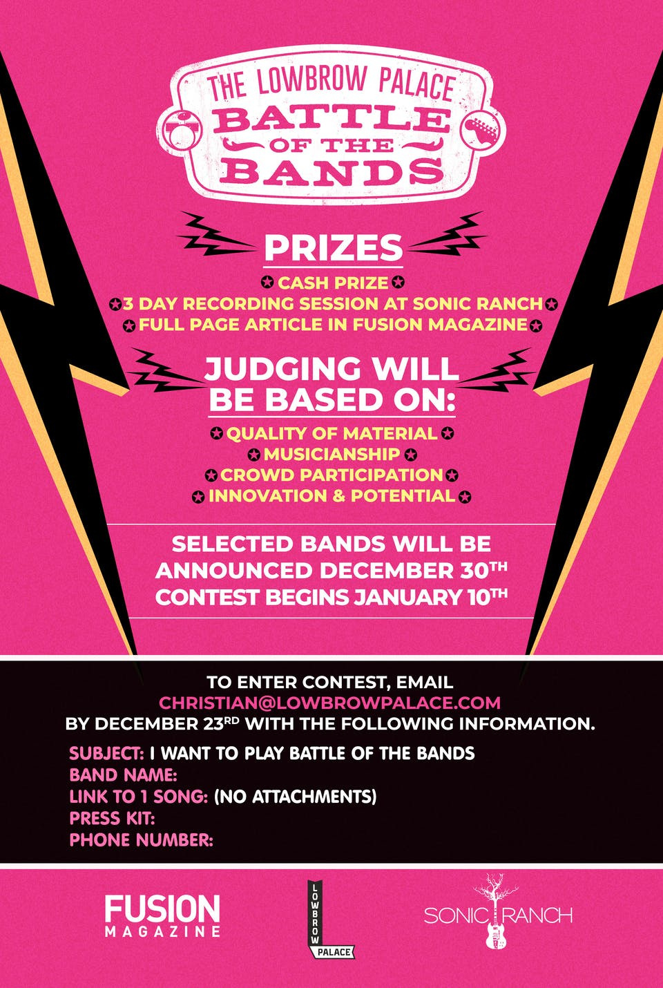 Battle of The Bands: Final Round