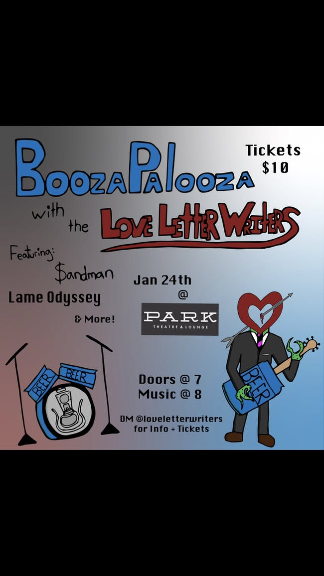 BoozaPalooza with the Love Letter Writers