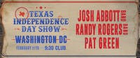 Josh Abbott Band, Randy Rogers Band, and Pat Green