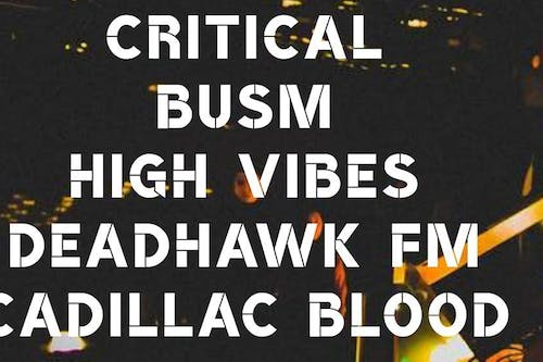 Critical, BUSM, High Vibes, Deadhawk FM, Cadillac Blood