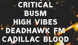 Critical, BUSM, High Vibes, Deadhawk FM, Cadillac Blood