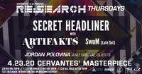 RE:Search ft. Secret Headliner TBA w/ Artifakts, SwuM, Jordan Polovina