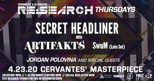 RE:Search ft. Secret Headliner TBA w/ Artifakts, SwuM, Jordan Polovina