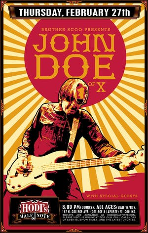 """Brother Scoo Presents: John Doe of """"X"""" w/ Special Guests"""