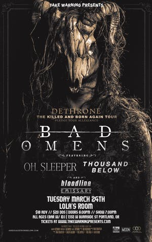 Bad Omens, Oh Sleeper, Thousands Below at Lola's Room