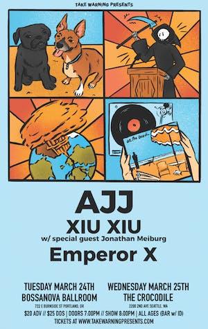 AJJ, Xiu Xiu, Emperor X at The Crocodile