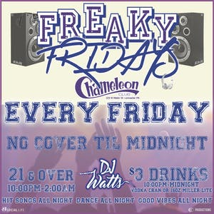Freaky  Fridays with DJ Watts