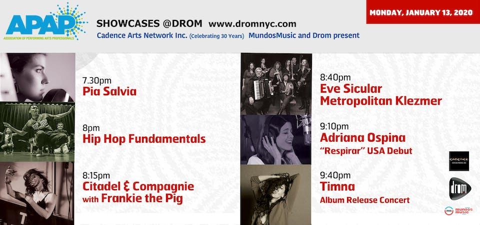 APAP Showcases @ DROM: Cadence Arts Network