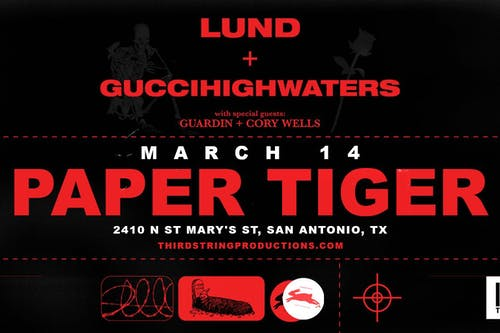 Lund & guiccihighwaters at Paper Tiger