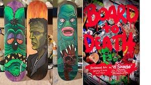 Board To Death: Skate Deck Art by El Shanebo
