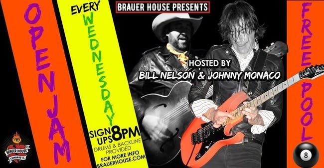 Open Jam Wednesday at Brauer House