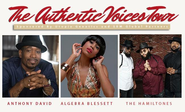 The AV Tour:Anthony David,Algebra Blessett,and the Hamiltones