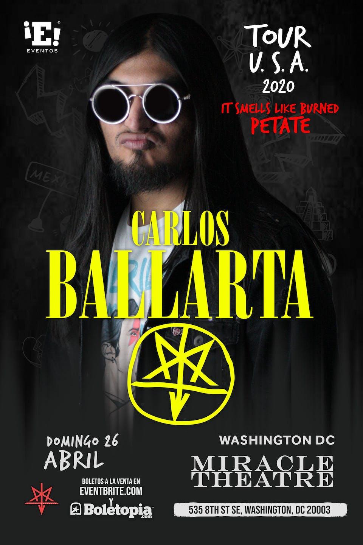 POSTPONED | Eventos Inc Presents Carlos Ballarta