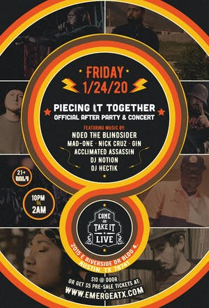 PIECING IT TOGETHER: Official After Party and Concert