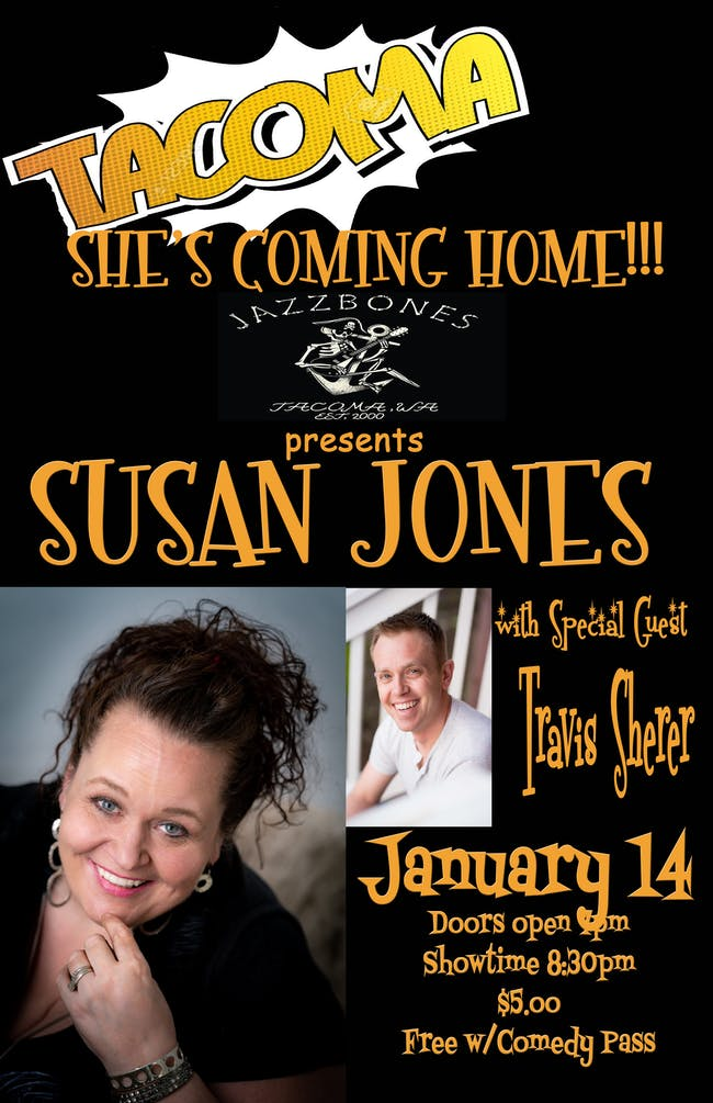 Live Comedy: Susan Jones and Travis Sherer