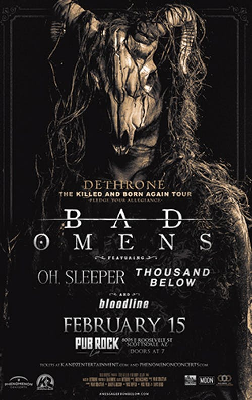 Bad Omens, Oh Sleeper/Thousand Below/Bloodline