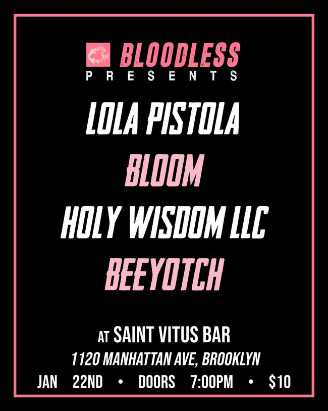 Lola Pistola, Bloom, Holy Wisdom LLC, Beeyotch