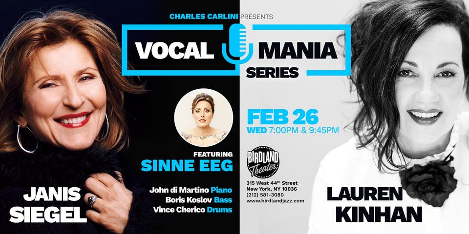 Jazz Vocal Mania Series Featuring Sinne Eeg