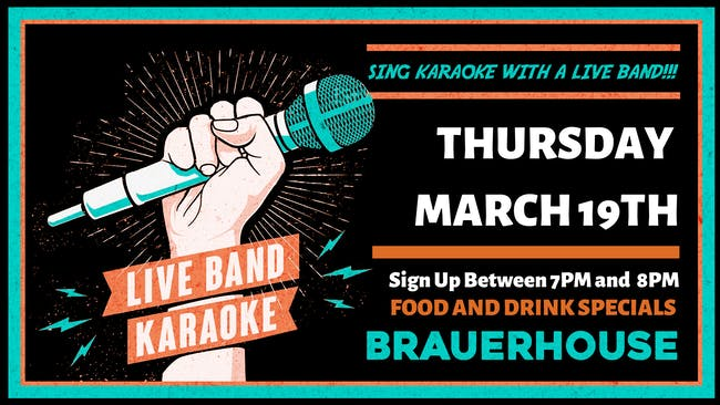 LIVE Band Karaoke at Brauer House