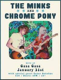 The Minks, Chrome Pony, Conor Donohue