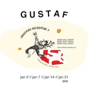 Gustaf (January Residency!) with Kaleta & Super Yamba Band, Francesca D'Uva