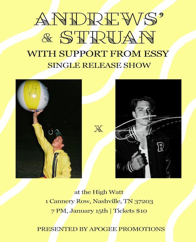 andrews' & Struan: Single Release Show