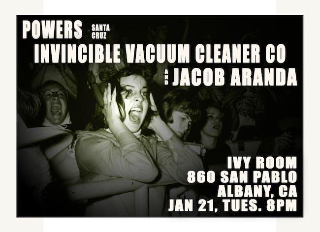 Powers (Santa Cruz), Invincible Vacuum Cleaner Co, Jacob Aranda