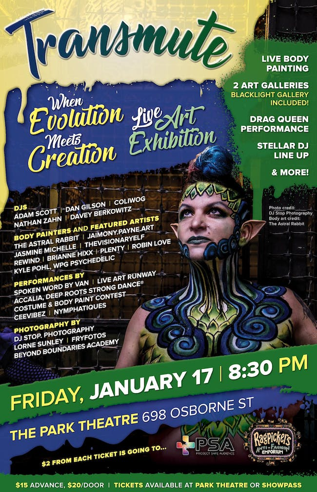 TRANSMUTE*When Evolution Meets Creation* Live Art Exhibition