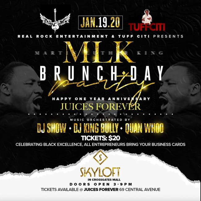 Real Rock Entertainment & Tuff Citi Present: MLK Brunch Day Party