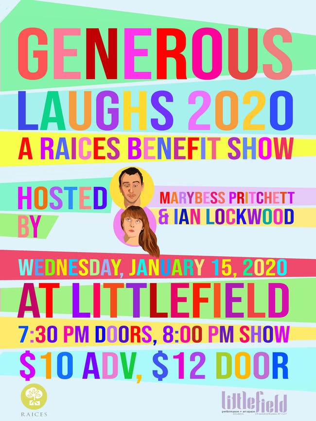 Generous Laughs 2020: A RAICES Benefit Show