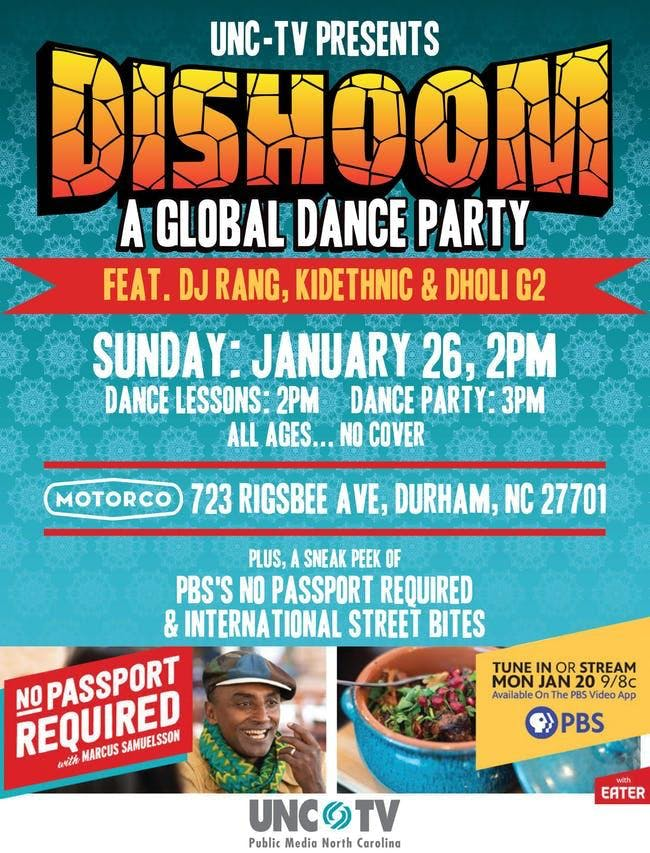 DISHOOM—A GLOBAL DANCE PARTY Featuring DJ Rang, KidEthnic and Dholi G2