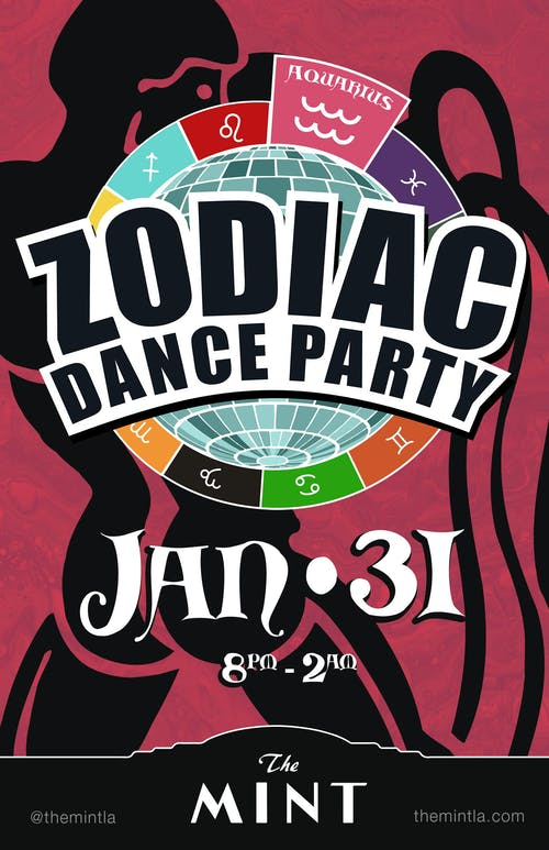 ZODIAC DANCE PARTY, CELEBRATING AQUARIUS - wtih DJ Hot Tub Johnnie