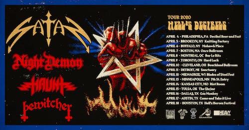 Satan • Night Demon • Haunt • Bewitcher