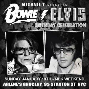 David Bowie & Elvis Presley Birthday Celebration