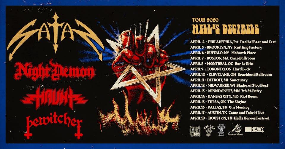 CANCELLED Satan, Night Demon, Horrendous, Haunt, Cloak, Bewitcher