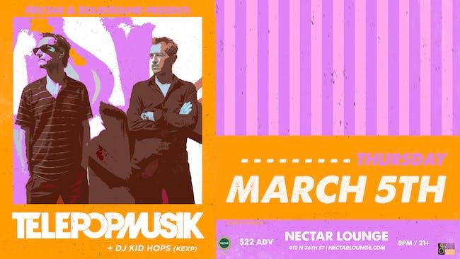 TÉLÉPOPMUSIK (LIVE) plus DJ Kid Hops (KEXP)