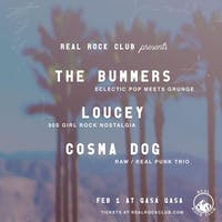 Loucey + The Bummers + Cosma Dog