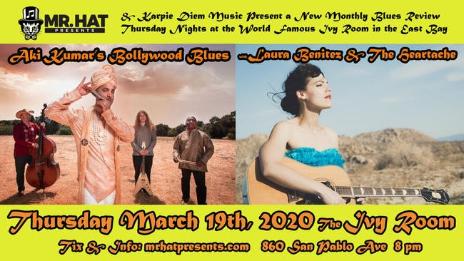 POSTPONED NEW DATE TBA Aki Kumar's Bollywood Blues Band + Laura Benitez