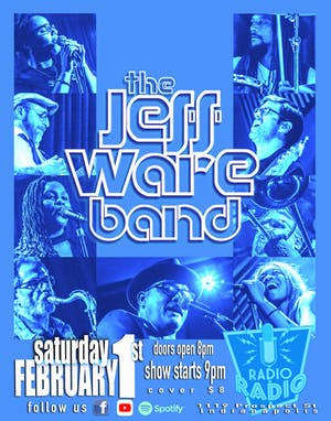 JEFF WARE BAND - Sidewalk Souls TIX AT DOOR