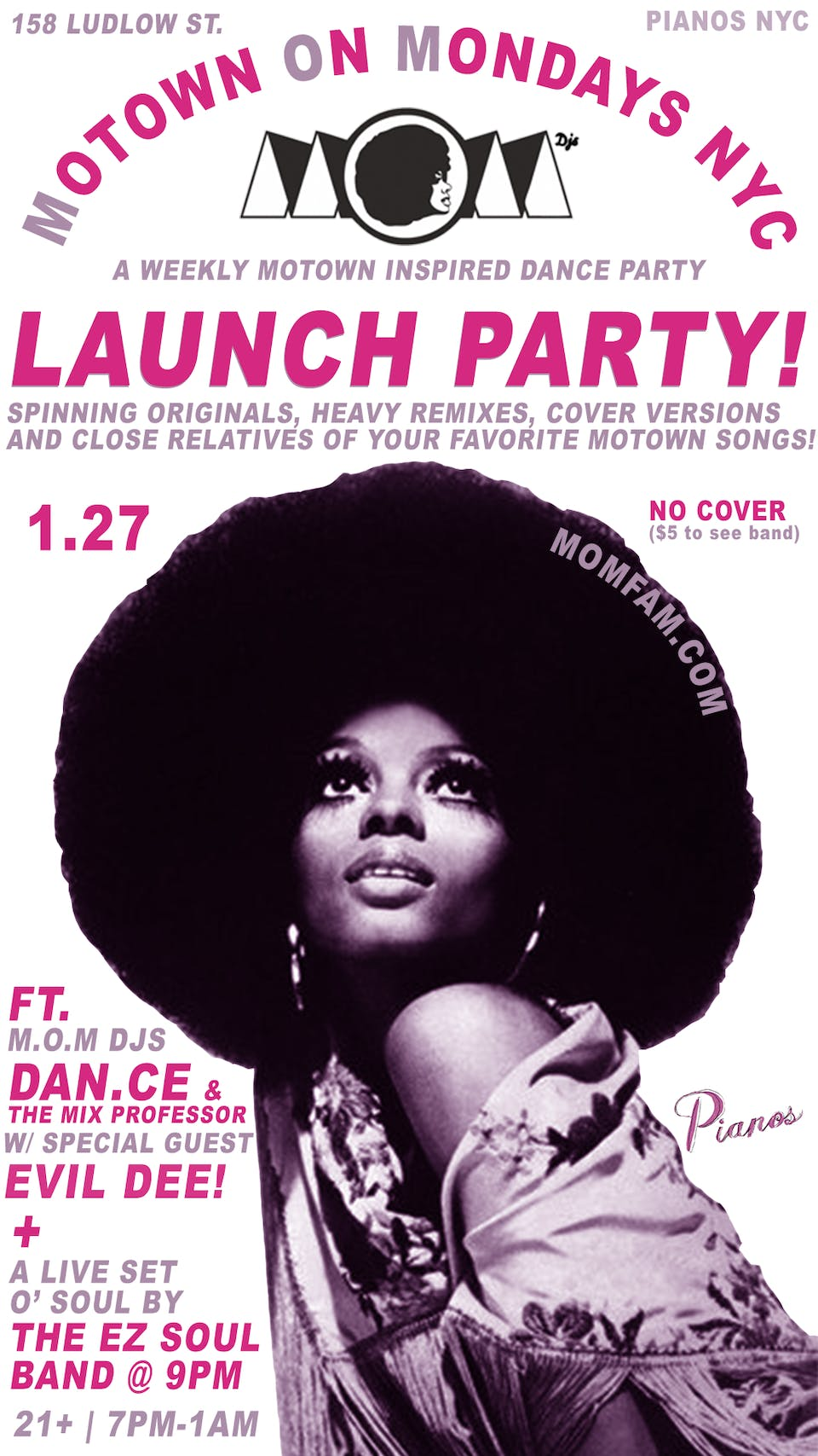 MOTOWN ON MONDAYS NYC LAUNCH PARTY