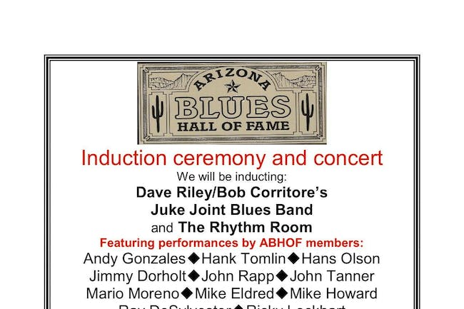 AZ BLUES HALL OF FAME FUNDRAISER & INDUCTION CEREMONY (Early Show)