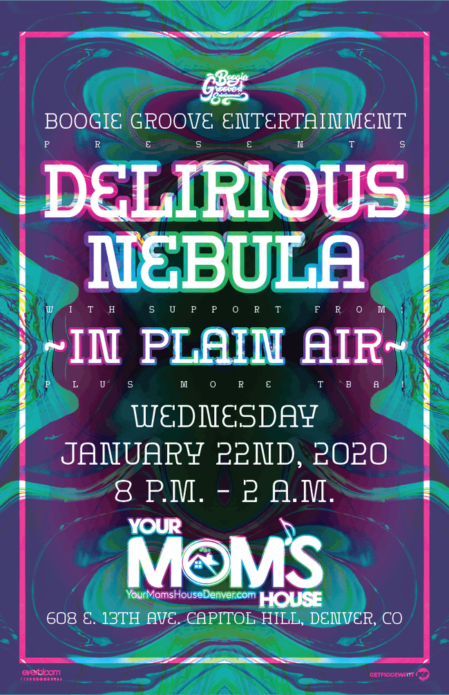 Delirious Nebula w/ In Plain Air + More at YMH