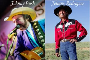 Johnny Rodriguez and Johnny Bush