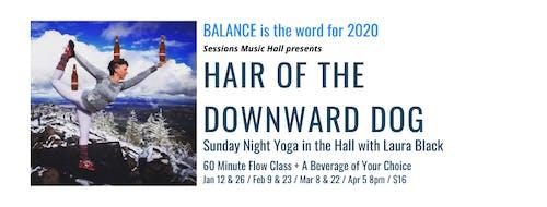 Hair of the Downward Dog Sunday Yoga