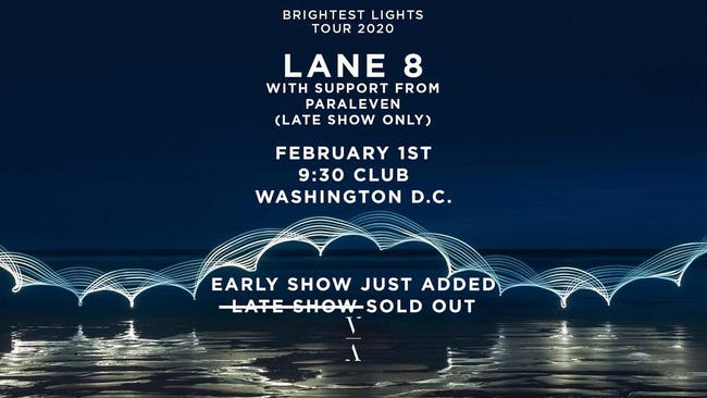 Lane 8 - Brightest Lights Tour - EARLY SHOW ADDED (at 9:30 Club)
