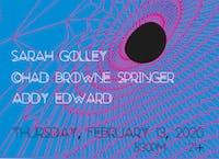 Sarah Golley, Addy Edward, Chad Browne-Springer