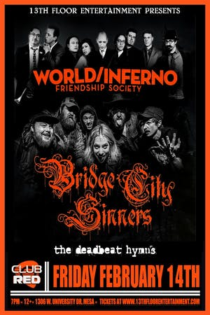 The World/Inferno Friendship Society & The Bridge City Sinners